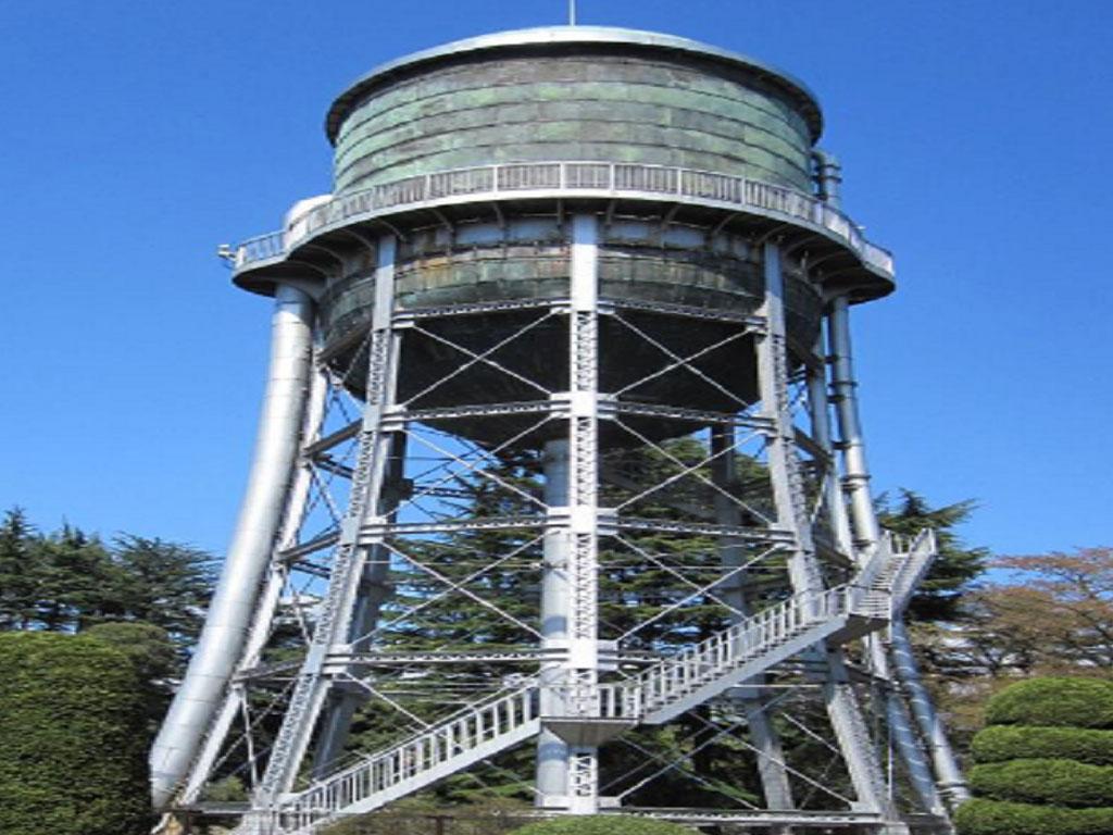 敷島公園浄水場 水道タンク